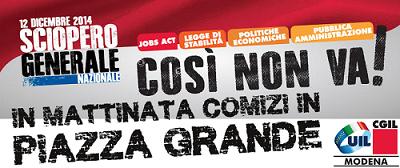 sciopero generale 12 dicembre 2014 – banner centrale