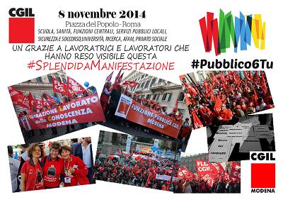banner ringraziamento manifestazione 8 novembre 2014